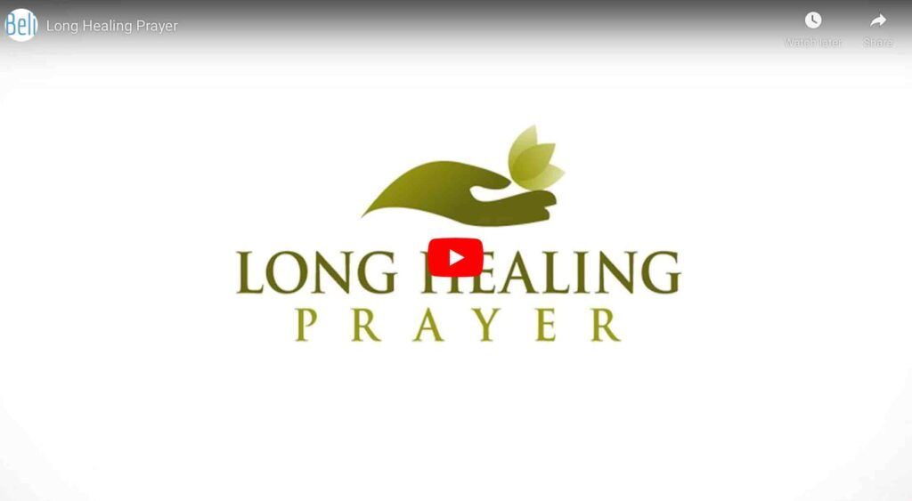 healing prayer youtube